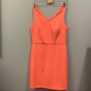 Loft V-Neck Sleeveless Pink/Peach dress